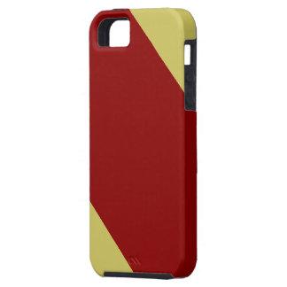 Cardenal y oro rayados iPhone 5 Case-Mate cárcasa