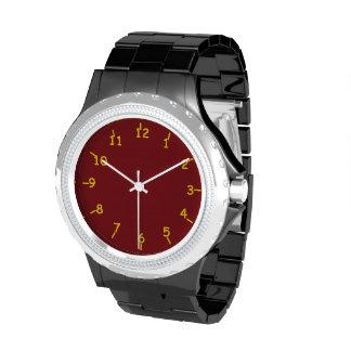 Cardenal y oro reloj