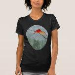 cardenales en invierno camiseta