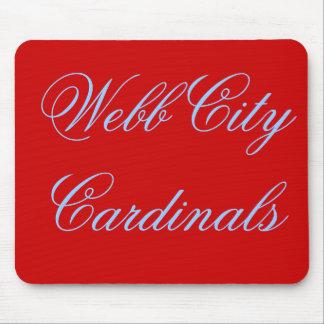 Cardenales Mousepad de la ciudad de Webb Alfombrilla De Ratones