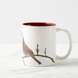 Cardenales rojos festivos taza de café