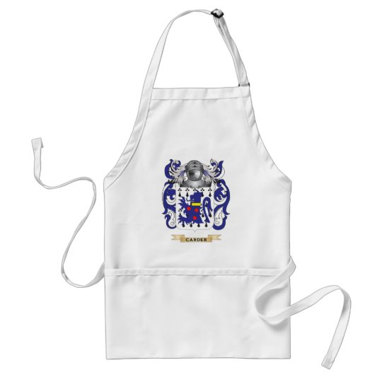 Carder Coat of Arms (Family Crest) Adult Apron