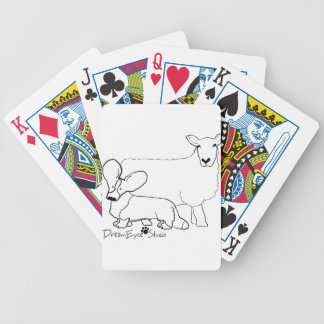 Cardi with a Sheep Standing Bicycle Playing Cards