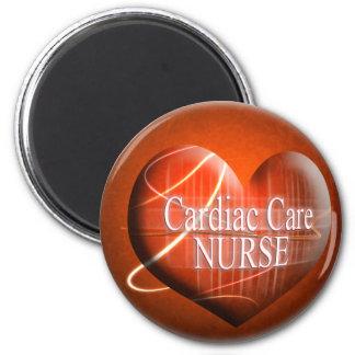 CARDIAC CARE (HEART) NURSE 2 INCH ROUND MAGNET