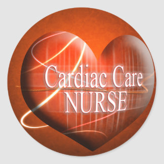 CARDIAC CARE (HEART) NURSE CLASSIC ROUND STICKER