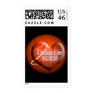 CARDIAC CARE HEART NURSE STAMP