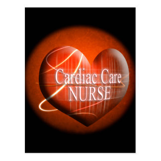 CARDIAC CARE (HEART) NURSE POSTCARD