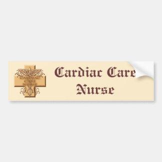 Cardiac Care Nurse Caduceus Bumper Sticker