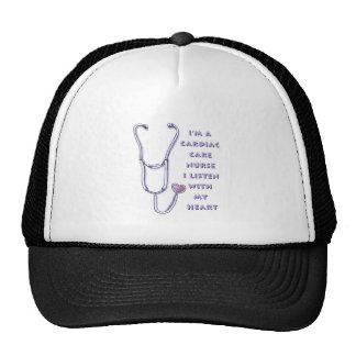 Cardiac Care Nurse Heart Mesh Hats