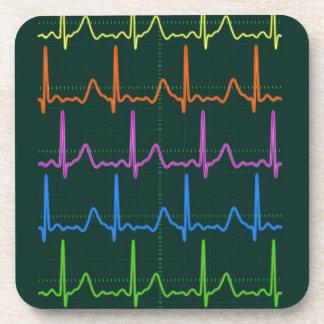 Cardiac Chevron Rainbow Beverage Coaster