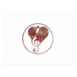 Cardiac ClefHeart Warn Postcard