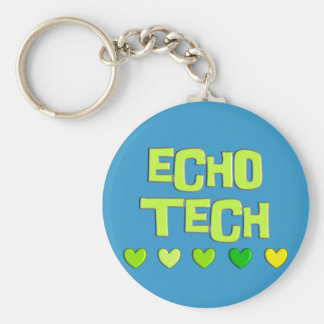 Cardiac Echo Tech Gifts Keychain