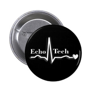 Cardiac Echo Tech Gifts Pins
