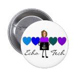 Cardiac Echo Technician Unique Gifts Pinback Buttons