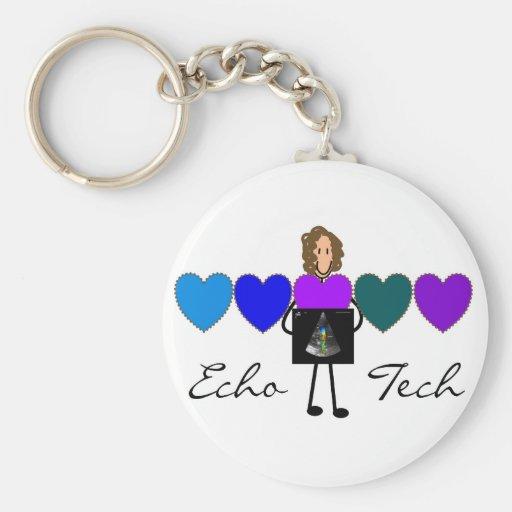 Cardiac Echo Technician Unique Gifts Keychains
