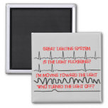Cardiac Lighting System --Cardiac Nurse Gifts 2 Inch Square Magnet