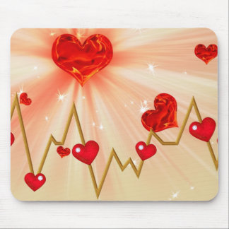 Cardiac love mouse pad