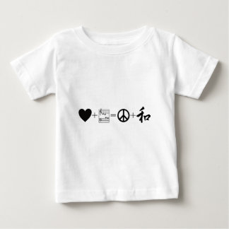 CARDIAC Love+Music=Peace+Harmony Baby T-Shirt