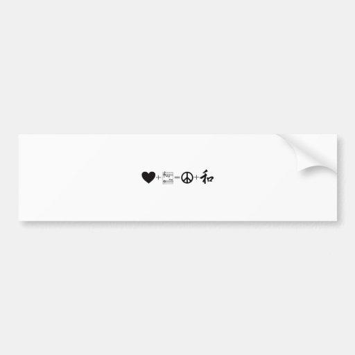 CARDIAC Love+Music=Peace+Harmony Bumper Sticker
