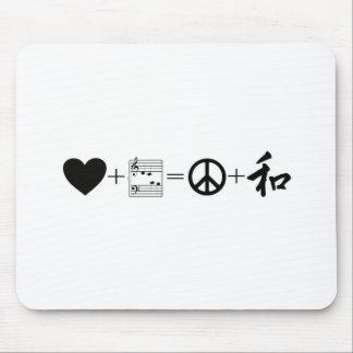 CARDIAC Love+Music=Peace+Harmony Mouse Pad