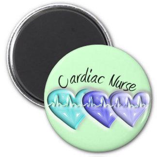 Cardiac Nurse 3D Blue Hearts Gifts Magnets