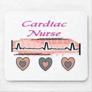 Cardiac Nurse EKG Paper Design Mouse Pad