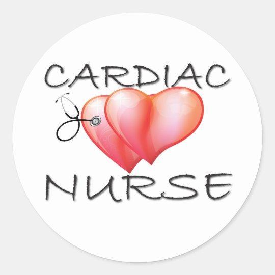 Cardiac Nurse Gifts Classic Round Sticker