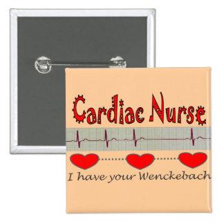Cardiac Nurse Gifts Pinback Button