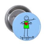 Cardiac Nurse Gifts Stick Person Design V-Fib Pinback Buttons