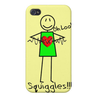Cardiac Nurse Gifts Stick Person Design V-Fib iPhone 4 Cover