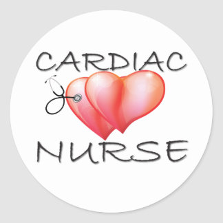 Cardiac Nurse Gifts Round Stickers