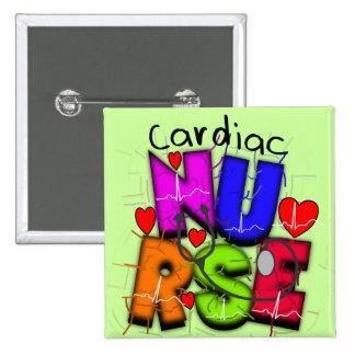 Cardiac Nurse Gifts--Unique Cardiac Design Pinback Button