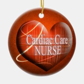 CARDIAC NURSE HEART CHRISTMAS ORNAMENT