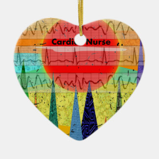 Cardiac Nurse Magical Forest Ceramic Ornament