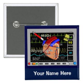 Cardiac Nurse Monitor Name Buttons