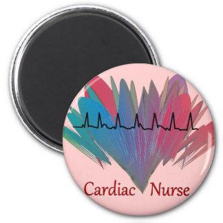 Cardiac Nurse QRS Design Fridge Magnets