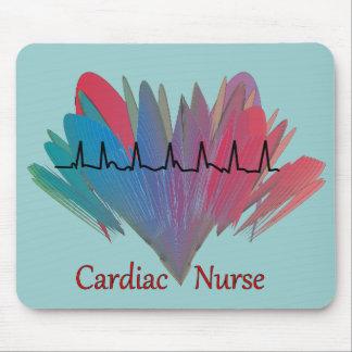Cardiac Nurse QRS Design Mouse Pad