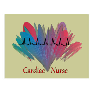 Cardiac Nurse QRS Design Postcard