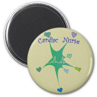 Cardiac Nurse Spiked Hearts QRS pattern Fridge Magnets
