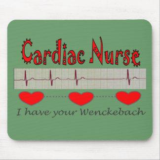 Cardiac Nurse T-shirts and Gifts Mouse Pad