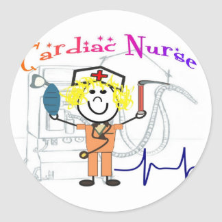 Cardiac Nurse  Unique and Adorable Gifts Classic Round Sticker