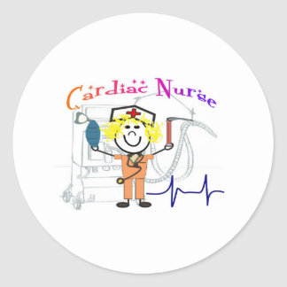 Cardiac Nurse  Unique and Adorable Gifts Round Stickers