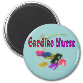 Cardiac Nurse Watercolor Art Gifts Fridge Magnet