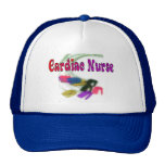 Cardiac Nurse Watercolor Art Gifts Mesh Hats