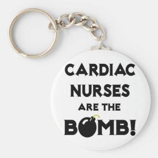 Cardiac Nurses Are The Bomb! Basic Round Button Keychain