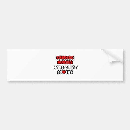 Cardiac Nurses Make Great Lovers Car Bumper Sticker