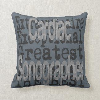 Cardiac Sonographer Extraordinaire Throw Pillow