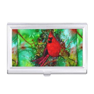 Cardianl en el árbol cajas de tarjetas de presentación
