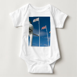 Cardiff Bay Flags Baby Bodysuit