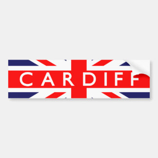 Cardiff : British Flag Bumper Sticker
